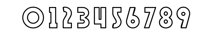 SF Speakeasy Outline Font OTHER CHARS