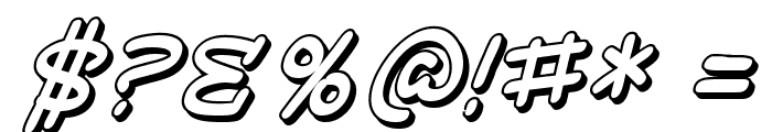 SF Toontime Shaded Italic Font OTHER CHARS