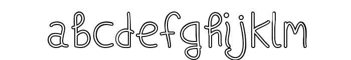 Ships In The Night [Outline]Regular Font LOWERCASE