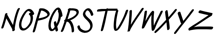 Silly Games Italic Font LOWERCASE