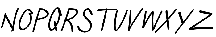 Silly Games Thin Italic Font LOWERCASE