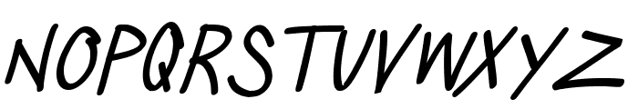 SillyGames-Italic Font LOWERCASE