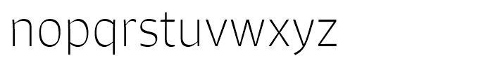 Signo Thin Font LOWERCASE