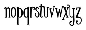 Silhouette Bold Font LOWERCASE