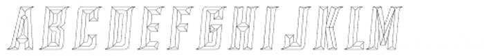 SILVER CHISEL OUTLINE Font LOWERCASE