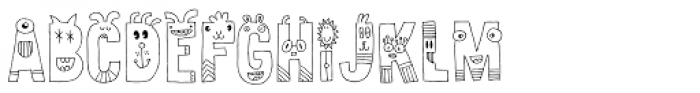 Sillyheads Font LOWERCASE