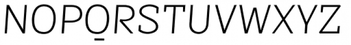 Sintesi Semi Thin Italic Font UPPERCASE