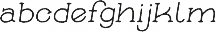 Skybird Rough Italic otf (400) Font LOWERCASE