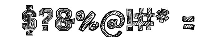 Sketch College Font OTHER CHARS