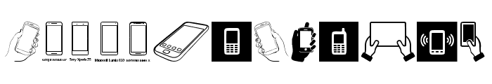 Smartphone Icons Font UPPERCASE