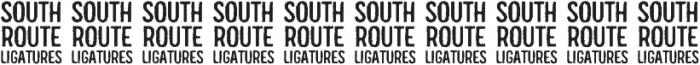 South Route Standup Ligatures ttf (400) Font OTHER CHARS