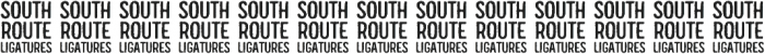 South Route Standup Ligatures ttf (400) Font UPPERCASE