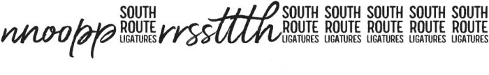 South Route Standup Ligatures ttf (400) Font LOWERCASE