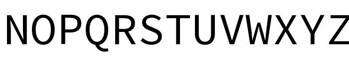 Source Code Pro Font UPPERCASE