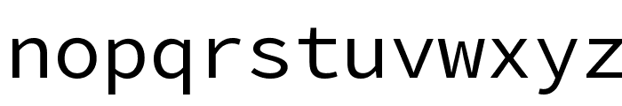Source Code Pro Font LOWERCASE