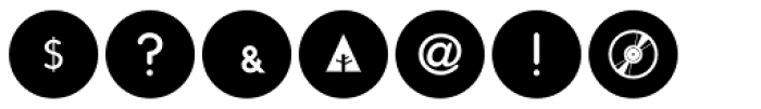 Social Networking Icons Minimal Font OTHER CHARS