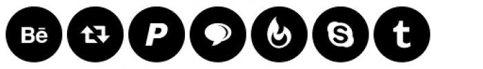 Social Networking Icons Minimal Font UPPERCASE