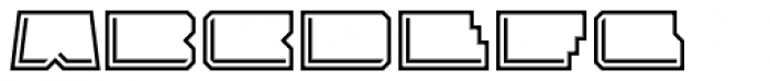 Solida Outline Engraved Wide Font LOWERCASE