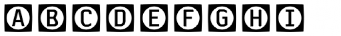 Sophist Icons OT Buttons A Font UPPERCASE