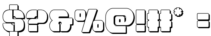 Space Cruiser 3D Font OTHER CHARS