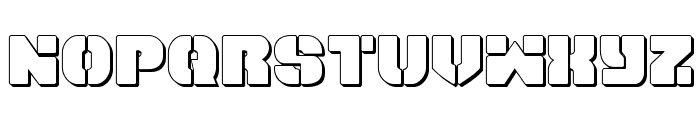 Space Cruiser 3D Font LOWERCASE