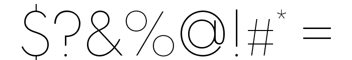 Spartan MB Thin Font OTHER CHARS