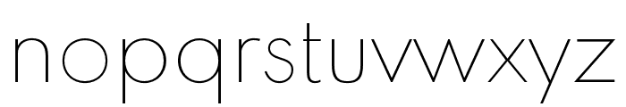 Spartan MB Thin Font LOWERCASE