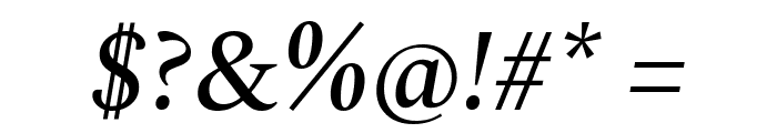 Spectral Medium Italic Font OTHER CHARS