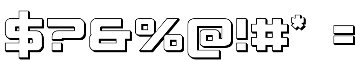 Spy Agency 3D Font OTHER CHARS