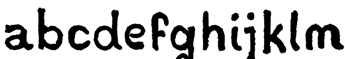 Stampede Font LOWERCASE