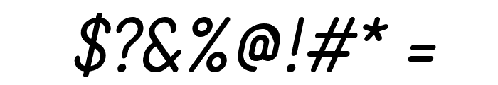 StaticItalic Font OTHER CHARS