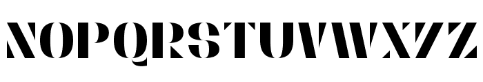 Stencylette Font LOWERCASE