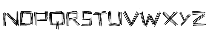 Stick Four Font LOWERCASE