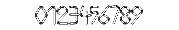Straw Letters Font OTHER CHARS