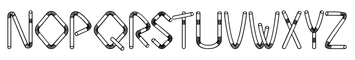 Straw Letters Font UPPERCASE