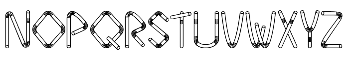 Straw Letters Font LOWERCASE
