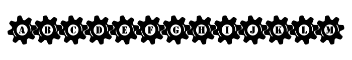 Stucked in Gears Font UPPERCASE