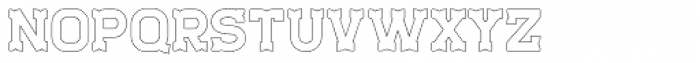 Staincool Outline Font LOWERCASE