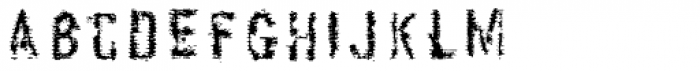 Stakeout Font LOWERCASE