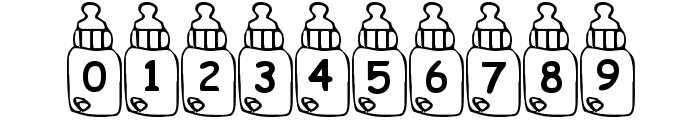Summers Baby Bottles Font OTHER CHARS