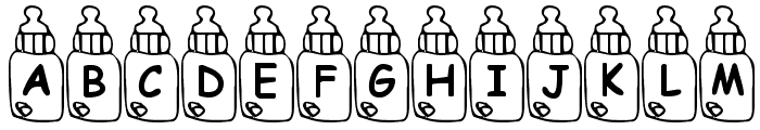 Summers Baby Bottles Font LOWERCASE