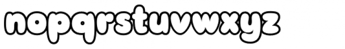 Sudsy Outline Font LOWERCASE
