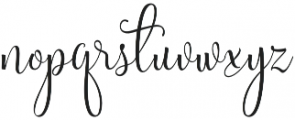 Sweetgentle otf (400) Font LOWERCASE