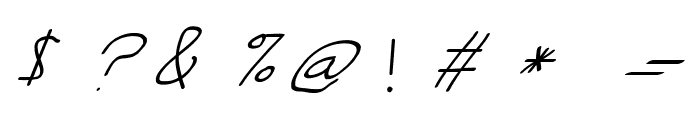 Swabby Italic Font OTHER CHARS