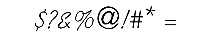 Swenson Font OTHER CHARS
