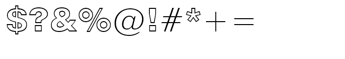 Swiss 721 Black Outline Font OTHER CHARS