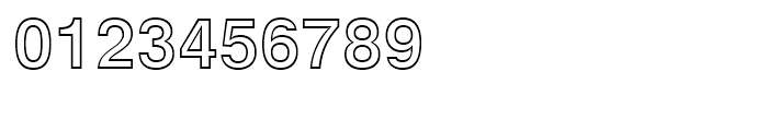 Swiss 721 Bold Outline Font OTHER CHARS
