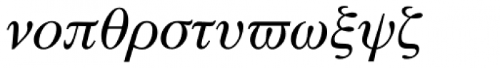 Symbol Proportional Font LOWERCASE