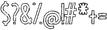 TallBall outline grungy otf (400) Font OTHER CHARS