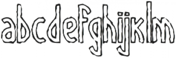 TallBall outline grungy otf (400) Font LOWERCASE